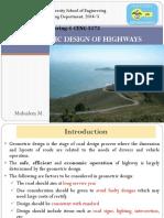 Ch-3 Geometric Design of Highways