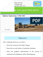 Ch 5 Earthwork and Quantification