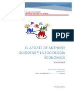 Aporte de Anthony Guiddens a La Sociología