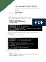 Instalacion Oracle Database 12c Linux en RHEL