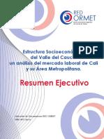 Estructura Socioeconomica Del Valle Del Cauca Un Analisis Del Mercado Laboral de Cali y Su Area Metropolitana