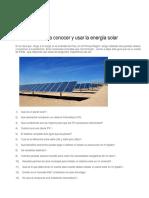 Guía Prática Para Conocer y Usar La Energía Solar