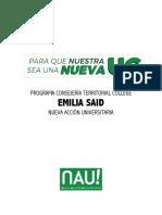 Programa Consejería Territorial Emilia Said - College