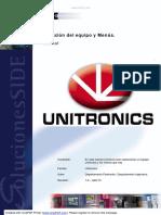 Tutorial Unitronics 01 Selección Del Equipo y Menús UNITRONICS