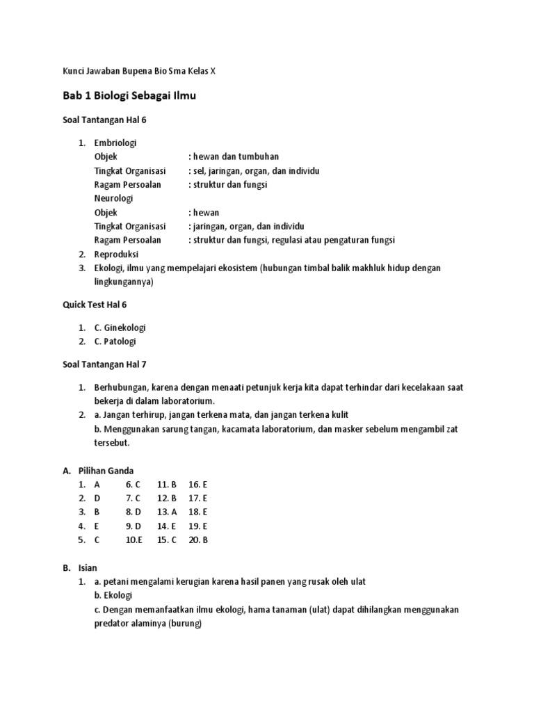 Kunci Jawaban Lks Biologi Kelas X Semester 2 Kurikulum 2013 Guru Galeri