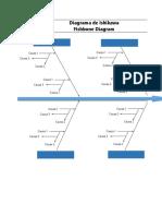 Plantilla Xls Diagrama de Ishikawa