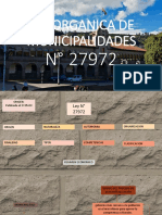 Ley Organica de Municipalidades -PERU