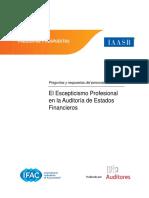 Preguntas y Respuestas Del Personal Del IAASB El Escepticismo Profesional en La Auditoria de Estados Financieros