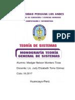 Realizar Una Monografía Sobre La Teoría General de Sistemas