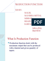 Production Function- Manisha Eco Ppt