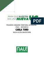 Astro Fis Mat - Carla Toro