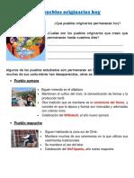 1.- Los Pueblos Originarios Hoy