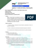 00 - Seminário de Pesquisa II - Cultura, 2017