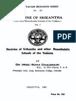 Doctrine of Srikantha (Volume- I)