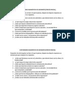 Cuestionario Diagnóstico de Geografía
