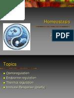 Ch. 7 (Homeostasis-osmoregulation, Endocrine, Temperature)