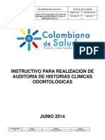 INSTRUCTIVO  AUDITORIA  ODONTOLOGICA