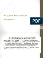 Prolongacion Prisión Preventiva