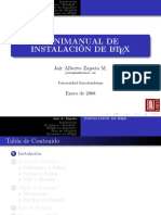Minimanual de Instalación LATEX