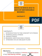 Lecture 1 Stresses