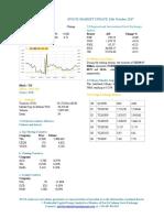 Market Update 13th October 2017
