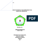 Kajian Peningkatan Manfaat Pada Bendungan Tugu Kabupaten Trenggalek