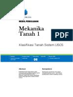 Modul 6 Klasifikasi Tanah USCS.pdf