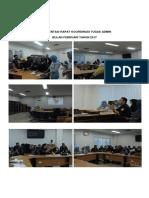 Dokumentasi Rapat Koordinasi Tugas Admin