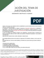 EL TEMA DE INVESTIGACION
