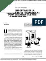 Alix Mandron (2011). « Comment Optimiser La Recherche de Financement Pour Démarrer Une PME Technologique », Vol.36, No.2, 70-78p.