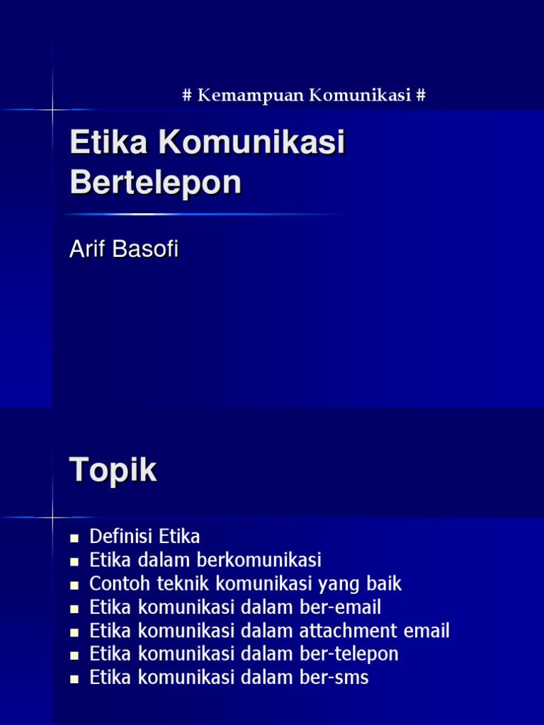 T08 Etika Komunikasi Telepon