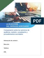 Eleccion Del Servicio Adecuado Comparativa Entre Auditoria Revision Compilacion y Procedimientos Acordados Final