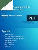 SQL Empotrado en RPG 2011 (1)