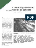 Acero de Refuerzo Galvanizado en Estructuras de Concreto