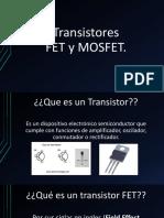 Transistores FET y MOSFET.