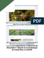 Web Aves de Costa Rica