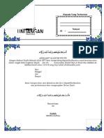 Contoh Undangan Tasyakuran Haji 2