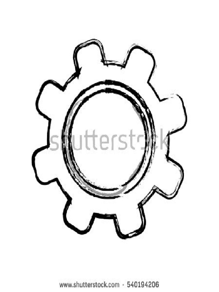 Stock Vector Isolated Gear Draw Icon Vector Illustration