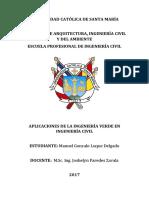 Aplicaciones de La Ingeniería Verde en Ingeniería Civil