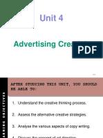 Unit 4 - Creativity in Advertising