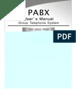 PBX Exceltel 832 416 Manual