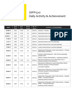 complete daily activity  achievement log