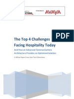 Top 4 Challenges Facing Hospitality