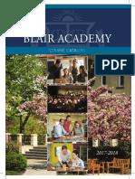 BLAIR 2017:18 Course Catalog