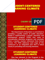 Student-centered Learning Climate
