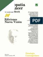 Wilhelm Reich - Biopatía del cáncer (resúmen)