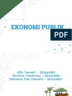 presentasi ekonomi publik