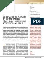 Chatillon Et Al. - 2009 - Observation de l'Activité en Centre d'Appels Télép