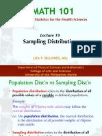 M101-Lecture 19 (Sampling Distribution)