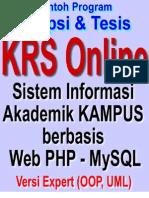 Web KRS Online - Sistem Informasi Akademik Kampus Berbasis Web PHP MySQL dan UML Design